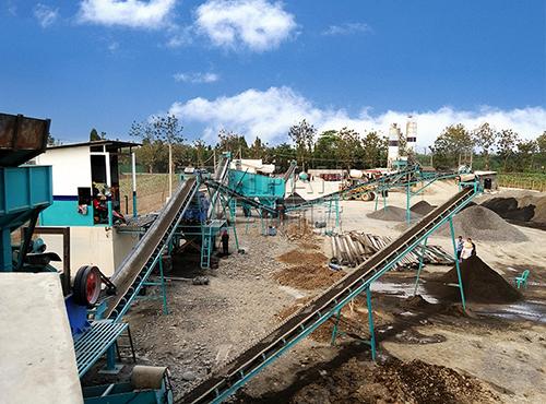 Línea de producción de arena